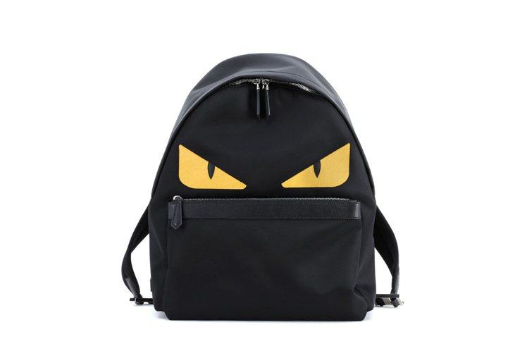 魔魔黃色眼睛後背包俏皮可愛。圖/FENDI提供