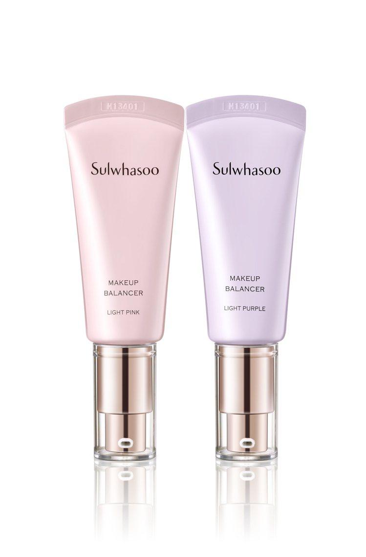雪花秀透潤親膚妝前平衡乳SPF25.PA++,光透粉色、光透紫色,各售1,880...