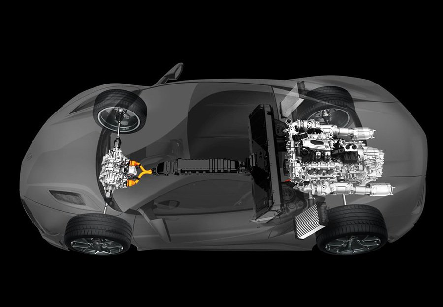 Hybrid油電混合動力系統是對手品牌中最頂級旗艦超跑才看得到的技術。 Acur...