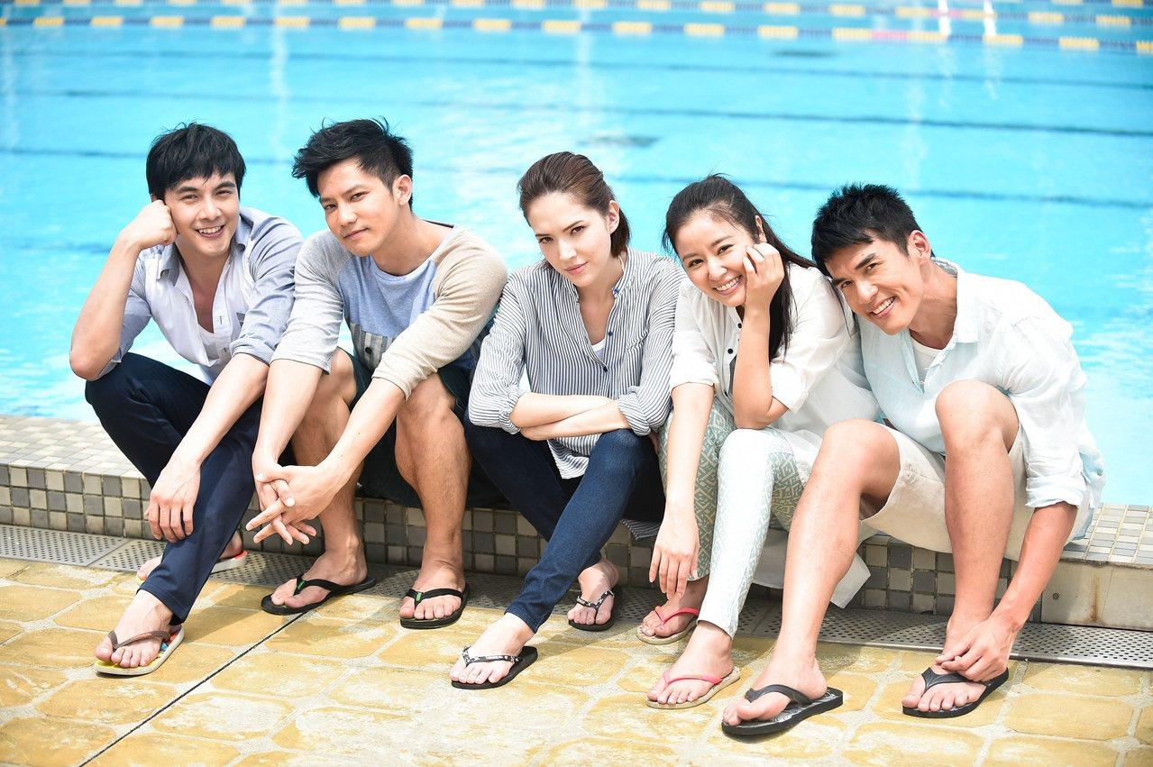 「16個夏天」入圍金鐘獎多項,眾演員開心。圖/TVBS提供