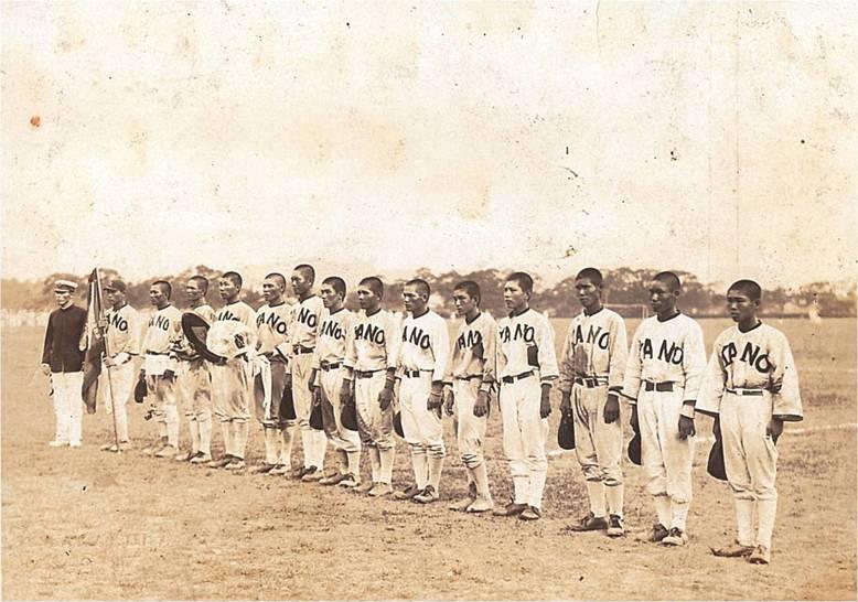 1928臺灣嘉義農林棒球隊。 圖/Licensed under Public Domain via Wikimedia Commons