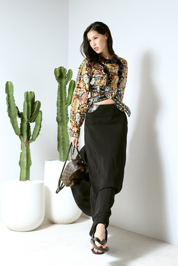 LV亞洲區早春發表,邀請Akemi展示新裝。記者陳立凱/攝影