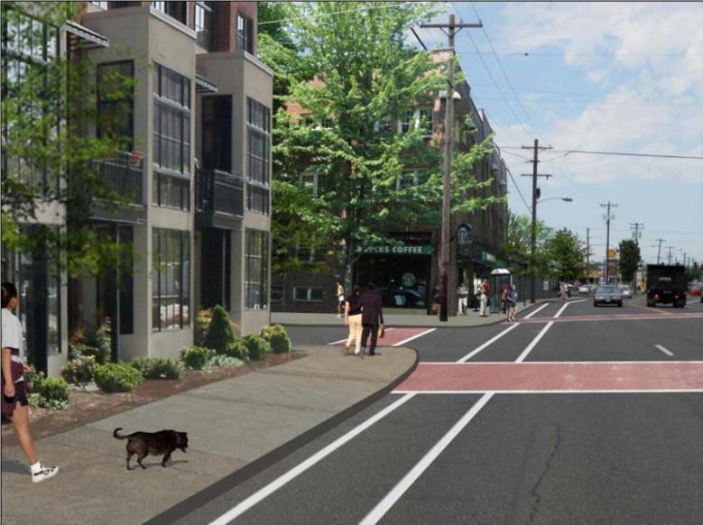 以行人為導向設計的街道,步行的人也會變多。  圖擷自 Pedestrian Network Analysis Project