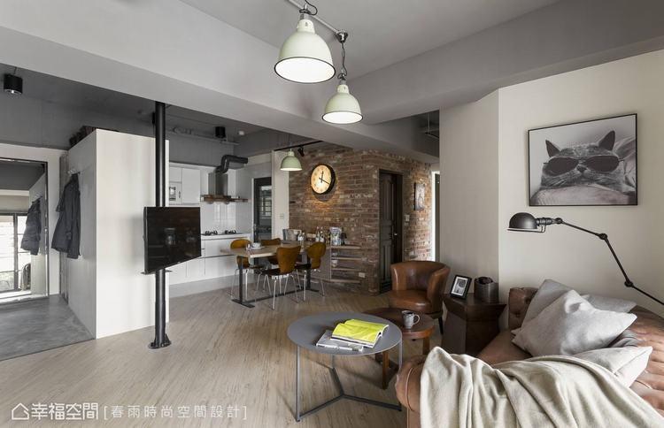 ▲將客廳單椅後方的隔間牆切去突兀直角,既不影響牆後房間的舒適性,也讓客廳有了賞心...