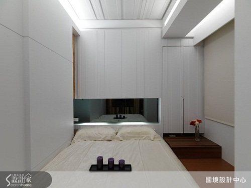 潔白無瑕的臥室,讓人在其中能充分放鬆與休息。 圖片提供_國境設計有限公司