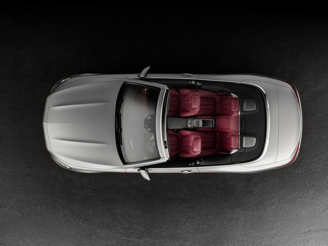 全新S-Class Cabriolet可在時速60km/h以下進行開關棚動作,且只需20秒即可完成收折。 摘自M.Benz