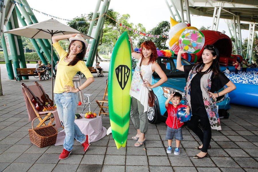 海洋尋寶可到MTSUBISHI三菱各展示中心報名,可獲總值超過1,250元的好禮,車主還加送市價400元的「遊俠海灘巾」。 圖/中華三菱提供