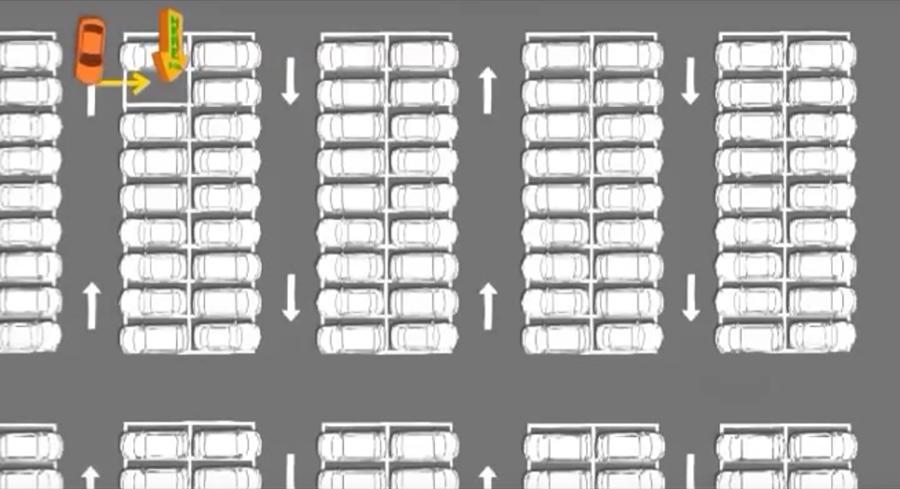 高人口的都市裡,並排式的停車格最能有效利用土地。 裁自S Oil影片