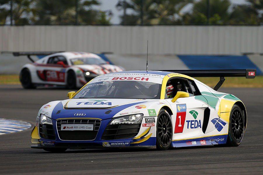 印度車手Aditya Patel與丹麥好手Thomas Fjordbach,目前暫居積分榜第一和第二名。 Audi提供