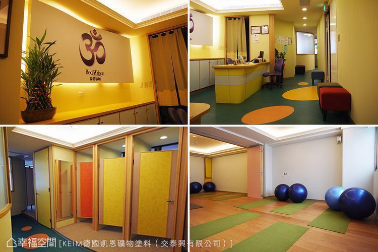 ▲瑜珈教室全面採用無毒建材,貼心顧慮學員們的健康。