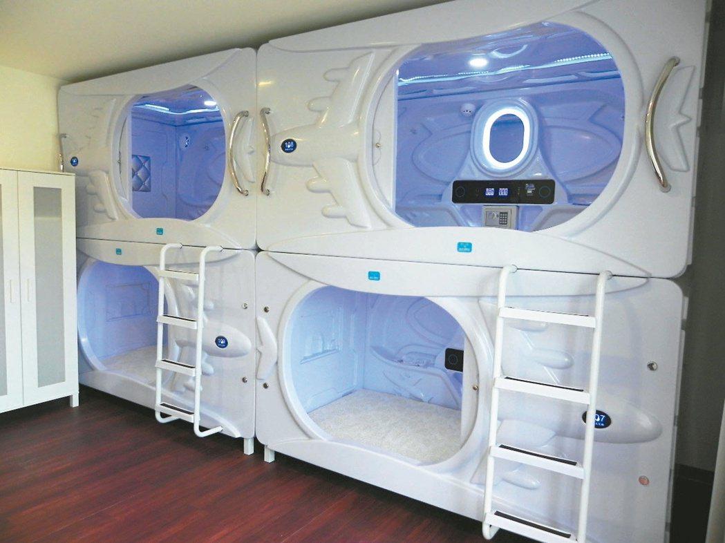 你想住在哪?北市有房東引進太空艙,以床位為單位出租。 記者莊琇閔/攝影