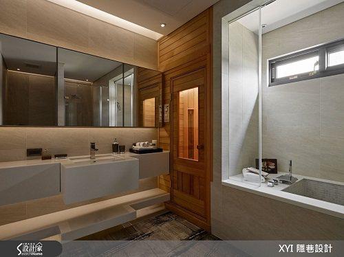 而浴室則以飯店同等級規劃,以進口磁磚貼附牆面,加上 SPA設計讓機能完善。 圖片...