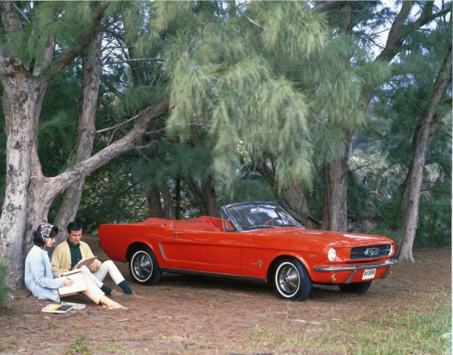 第一代 Ford Mustang野馬跑車。 Ford提供