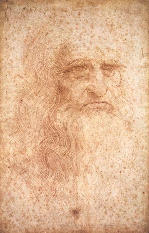 Leonardo da Vinci – self-portrait (ca. 1...