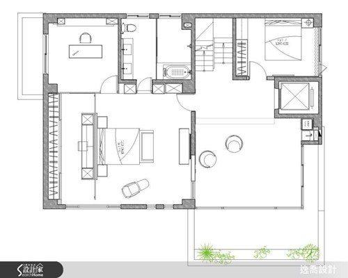 三樓的主臥室採取總統套房的設計概念,完整包含了書房、衛浴與更衣室。另外此樓層中也...