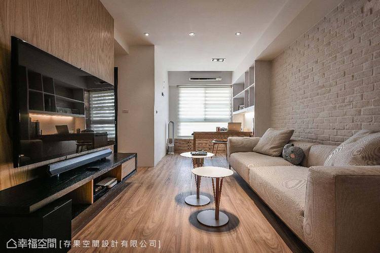 由於室內坪數並不充裕,因此採用開放式整合手法,延伸光線與空間感。