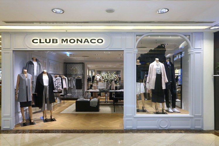 CLUB MONACO微風廣場全新概念店,共60坪,陳列包括男、女裝服飾及配件。...