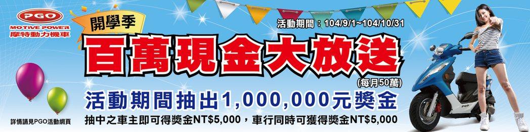 活動期間將抽出200個5000元現金,活動總獎金高達100萬元。 PGO提供
