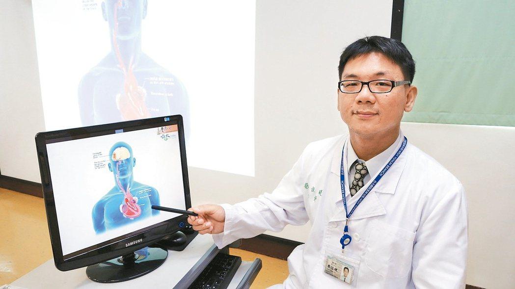 台大醫院雲林分院內科主任蔡佳醍指出,心律不整中的心房顫動患者,須特別留意預防中風...