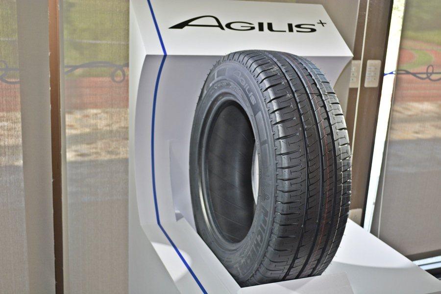 新一代輕卡客車用胎AGILIS+。 記者趙惠群/攝影