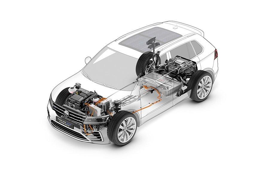 Tiguan GTE Concept提供E-Mode純電行駛、Hybrid油電混...