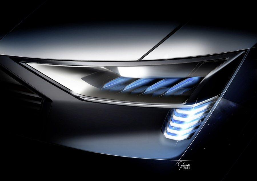 Audi e-tron quattro Concept搭載Matrix矩陣式La...