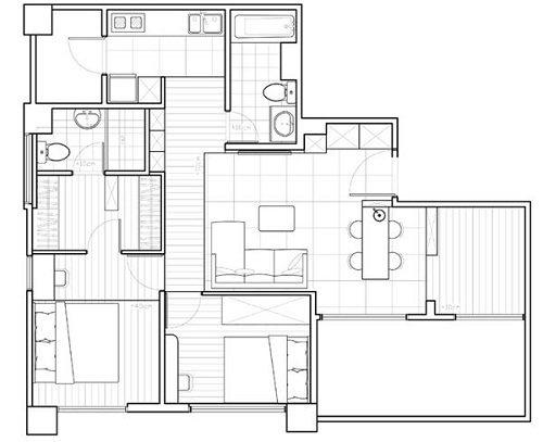 平面圖提供_綺寓空間設計。