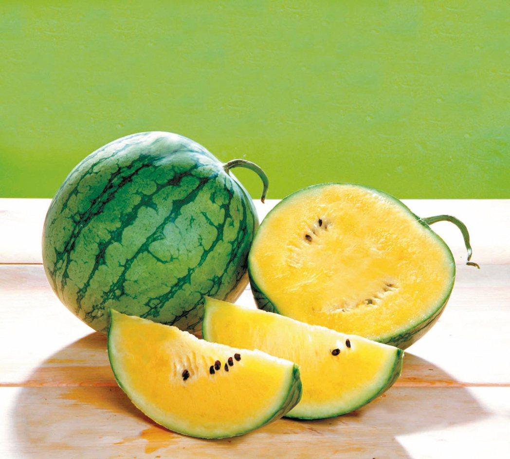 黃肉西瓜。 圖/本報資料照片
