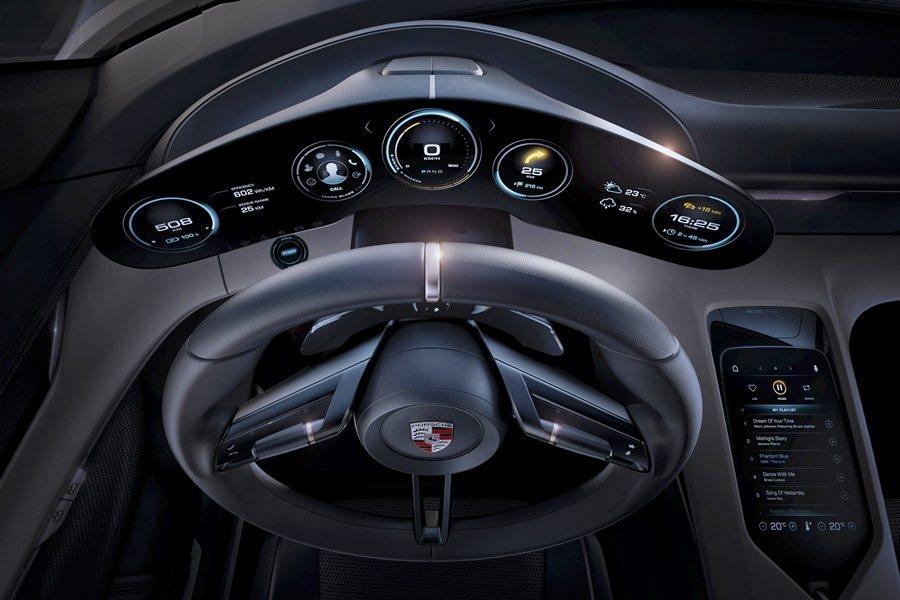 五環式儀表以OLED有機發光二極體技術顯示,車內也具備眼球追蹤系統,透過攝影機能...