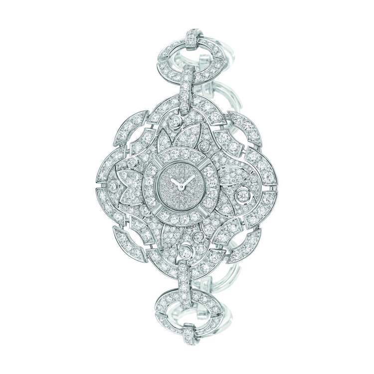 Particuliere腕表,18K白金鑲嵌明亮式切割鑽石。建議售價871萬6,...