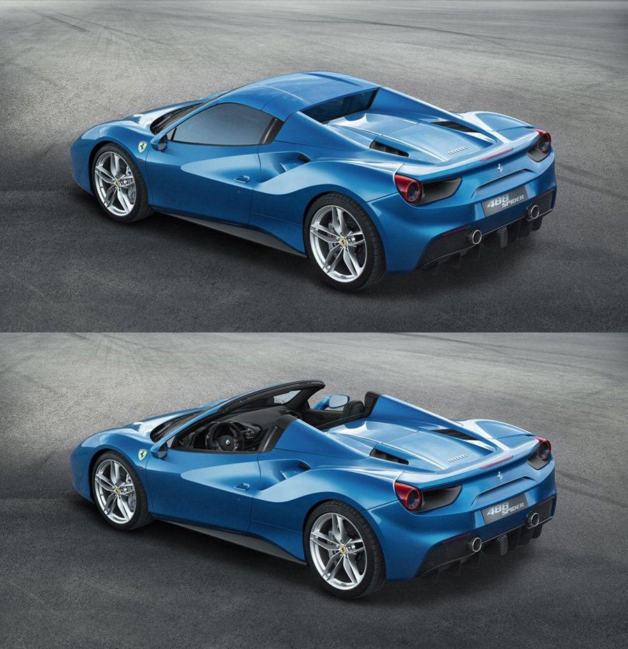 堅固的底盤平台設計讓488 Spider擁有比458 Spider高出23% 的車身鋼性。 FERRARI提供