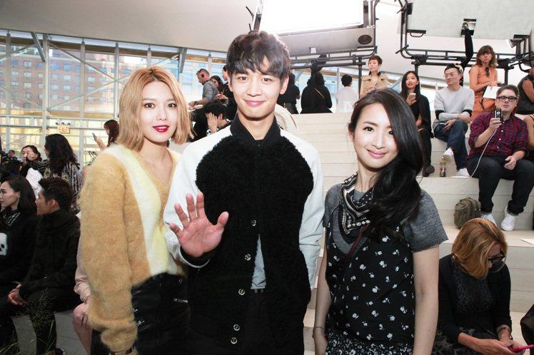 (左到右)少女時代的秀英、SHINee崔珉豪及林依晨