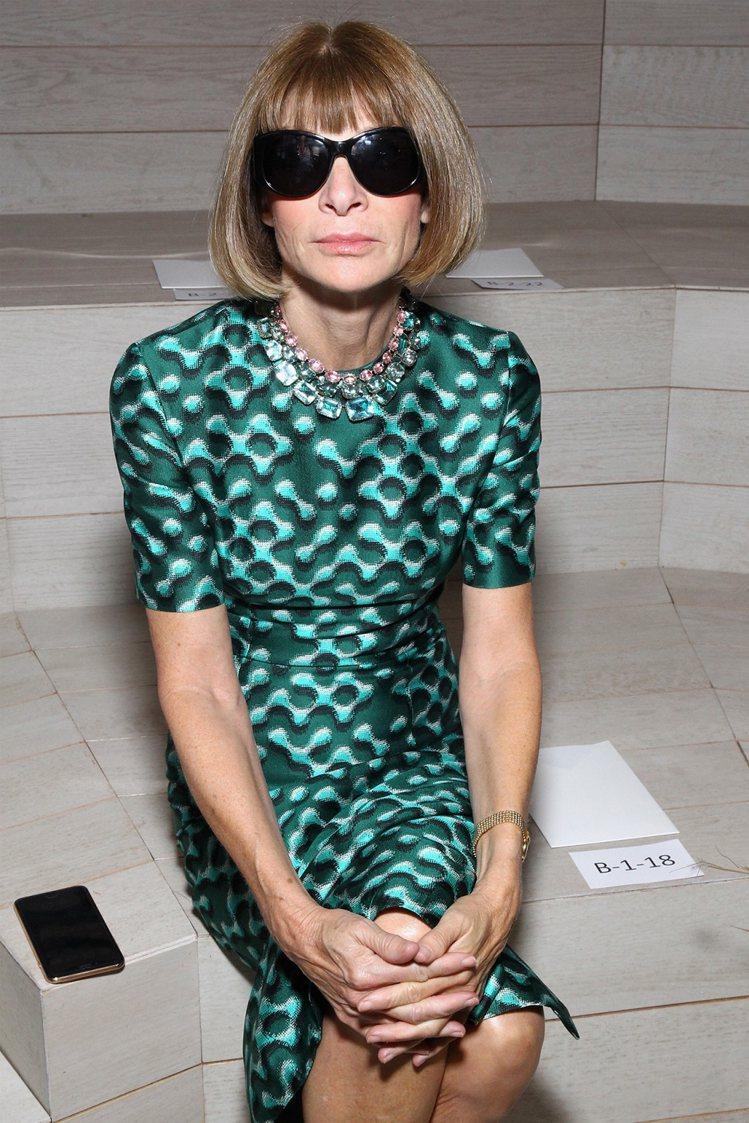 美國版Vogue總編輯安娜溫圖 Anna Wintour。圖/COACH提供