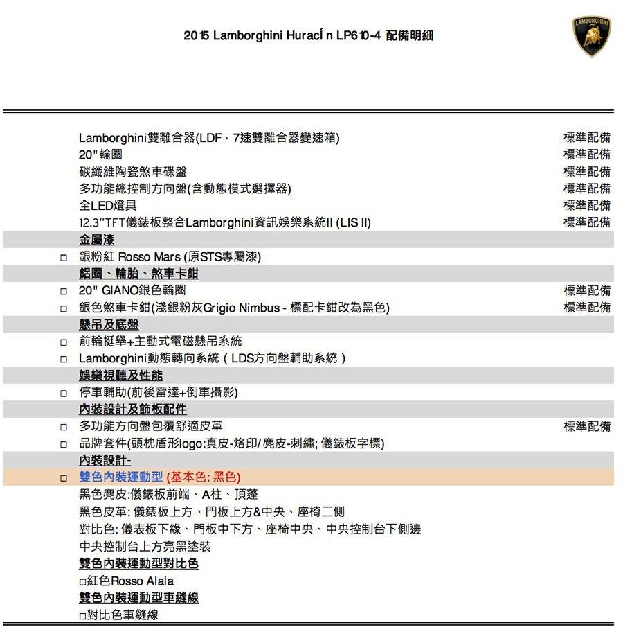Lamborghini Taiwan提供