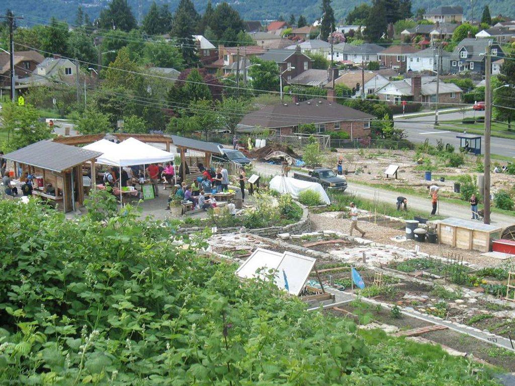 食物森林中有聚會亭是都市居民的情感交流中心。 圖/必肯食物森林提供
