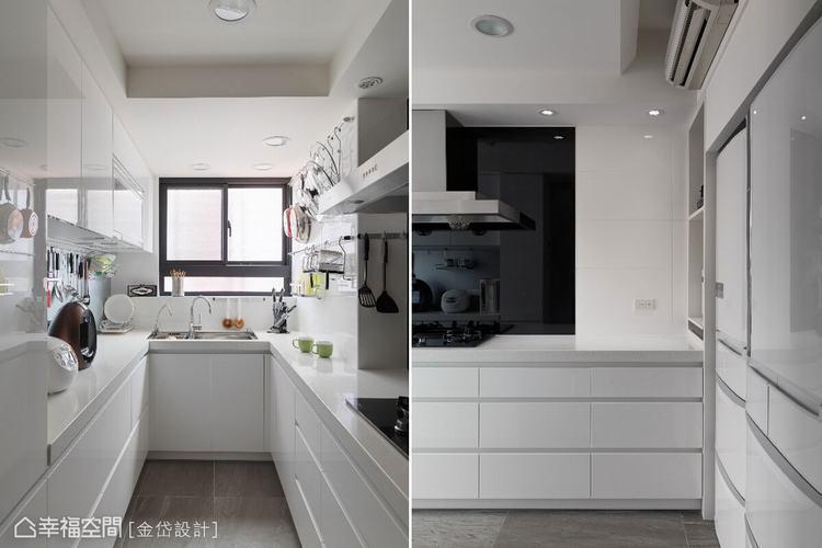 ▲不到兩坪的廚房,擁有最適合陳美貴設計師的料理動線,以及超大容量收納!