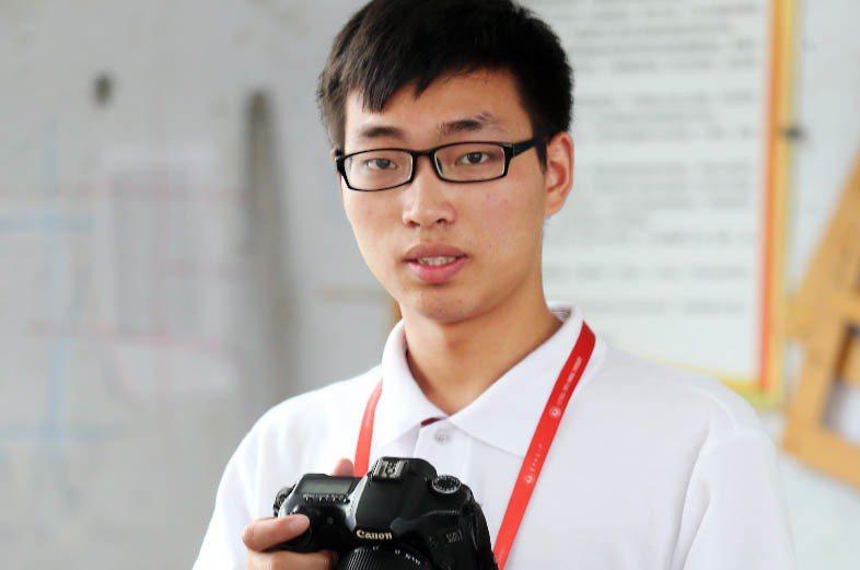 課輔志工吳光偉。記者徐兆玄/攝影