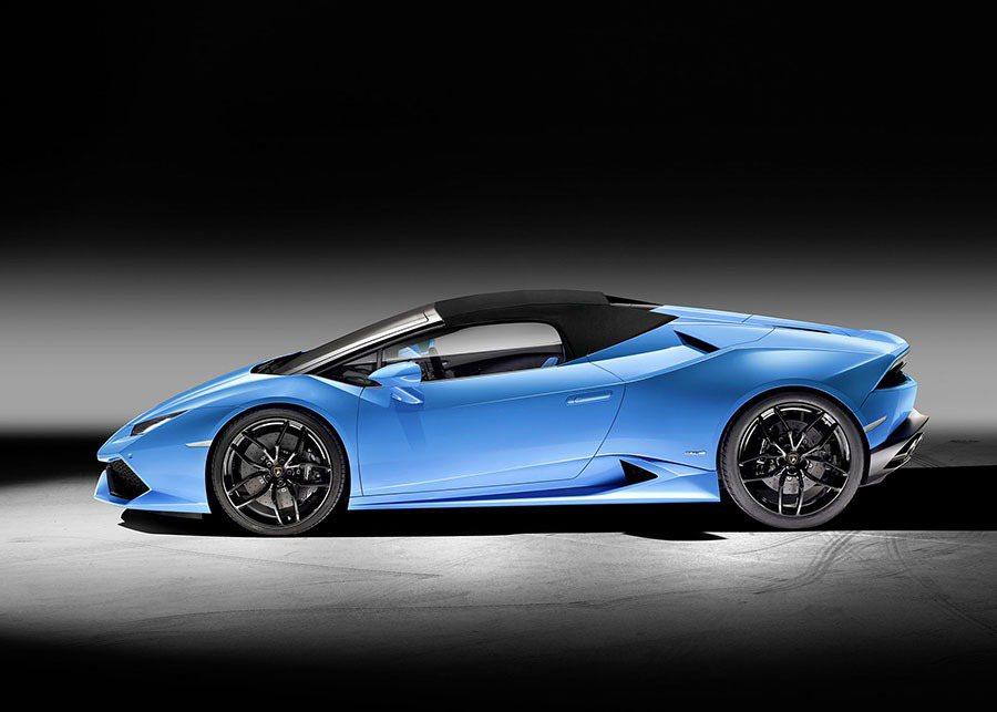 Huracán LP 610-4 Spyder淨重1542 kg,功率重量比達2.53 kg/hp。 Lamborghini提供