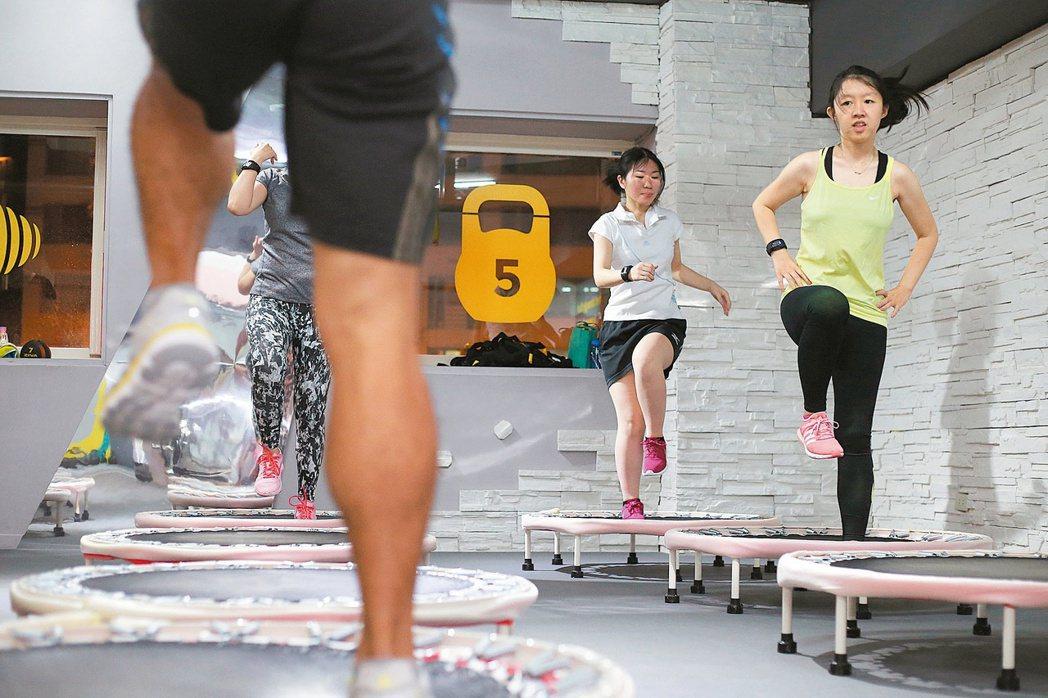 有氧的運動是加快身體新陳代謝最強勁的馬力。 記者許正宏/攝影