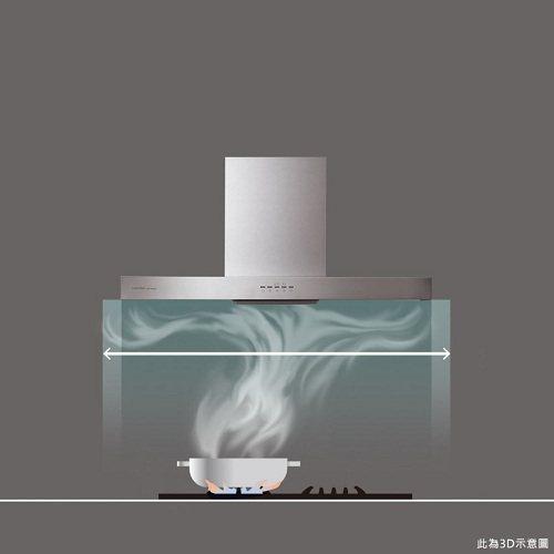 櫻花 3D 環吸除油煙機創新專利環型吸力及擴大吸煙範圍,能夠徹底阻絕油煙吸入口鼻...