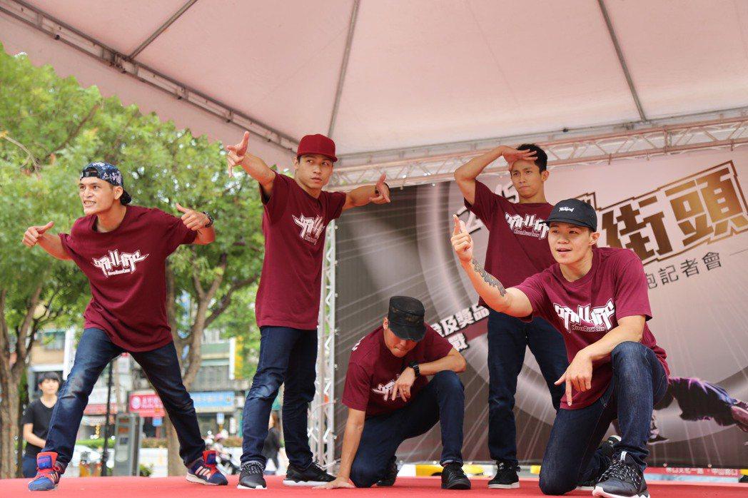 台灣HRC Bboy街舞團隊。聯合報系記者魏莨伊/攝影