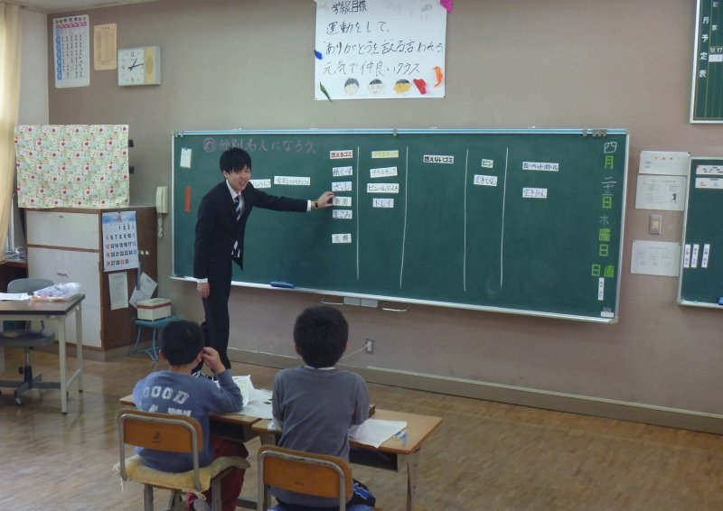 和歌山安諦小學全校只有十一人,採取複式學習,幾乎都是混齡教學。圖/安諦小學提供