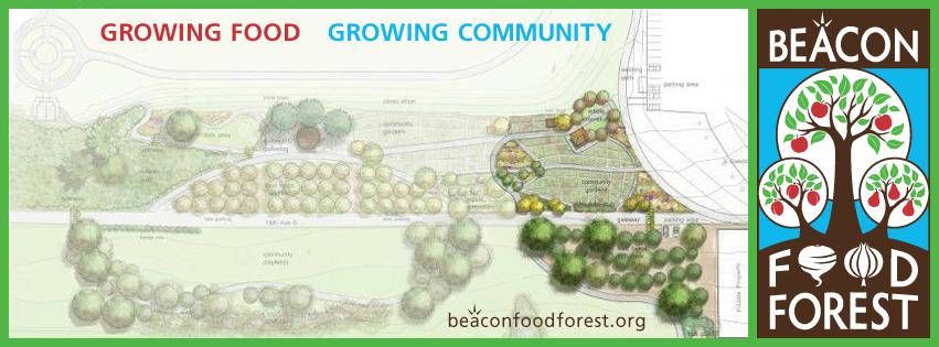 必肯食物森林製作的園區虛擬示意圖以及標誌。 圖/必肯食物森林提供