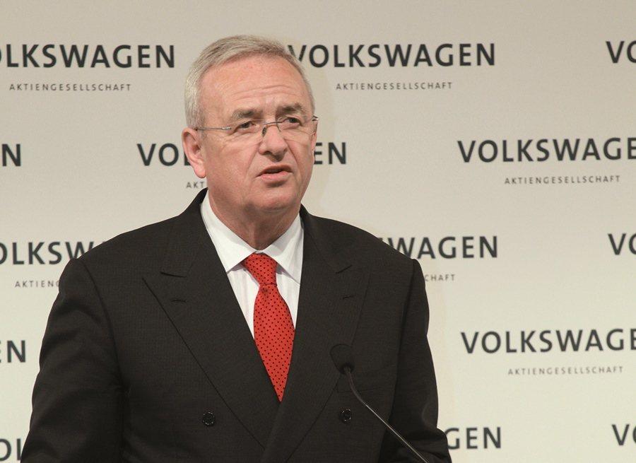 福斯集團首席執行官Martin Winterkorn,針對福斯集團柴油車測試因人...