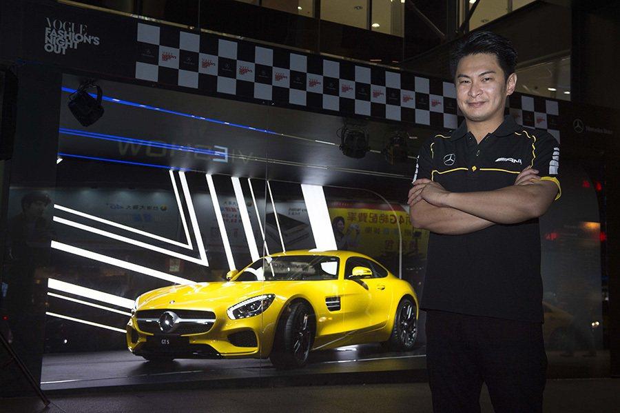 台灣賽車界專家代表林帛亨。 Mercedes-Benz提供