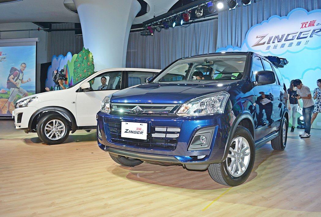 全新世代Zinger不再掛三菱的Logo,而是走自己的路,掛中華汽車己的商標,同時加了中文車名,重新命名為「雙贏Zinger」。 記者趙惠群/攝