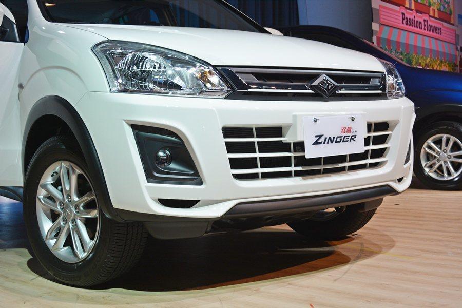 Zinger具十足SUV運動休旅車風格,有全新前保桿,變寬的水箱護罩,結合鍍鉻飾條,並有橫柵式氣壩和下擾流。 記者趙惠群/攝影