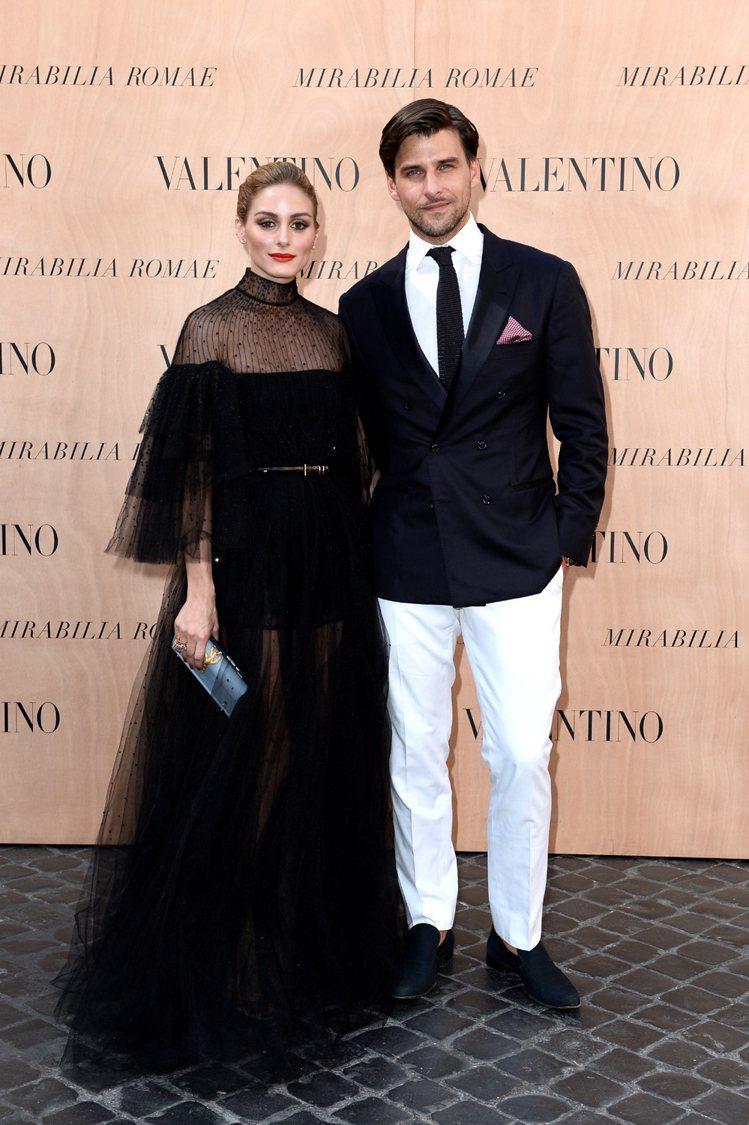 奧莉薇亞巴勒莫(左)當選最性感有型獎。圖/VALENTINO提供