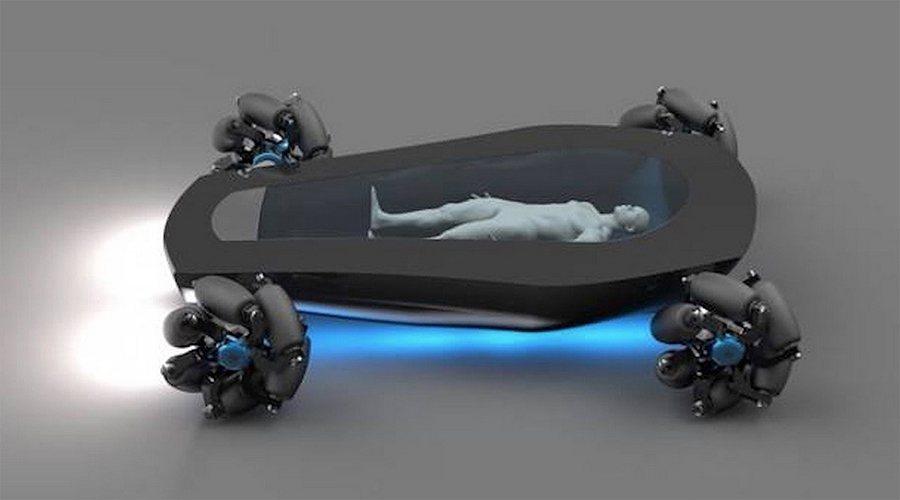 Korbiyor自動駕駛棺材概念車結合了氫燃料電池動力、自動駕駛、以及簡單的機械技術。 moon festival