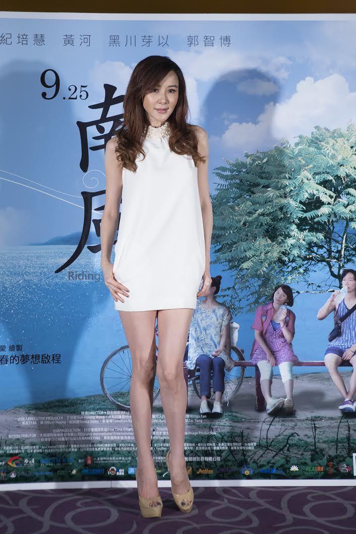 蕭薔身材姣好,圖為她2015年的模樣。華影國際影藝提供